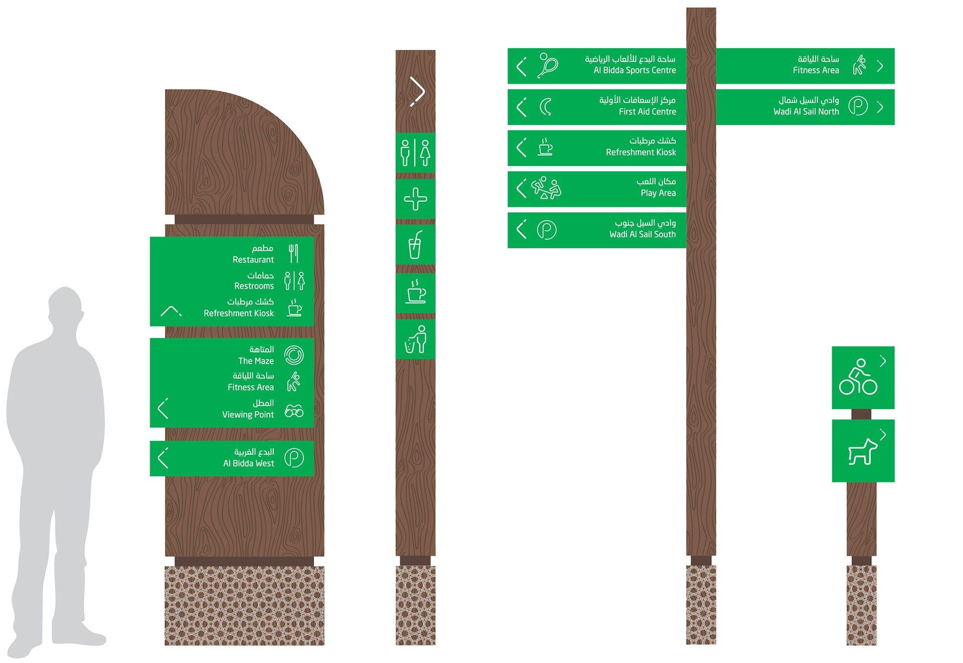 Al Bidda Park Space Branding
