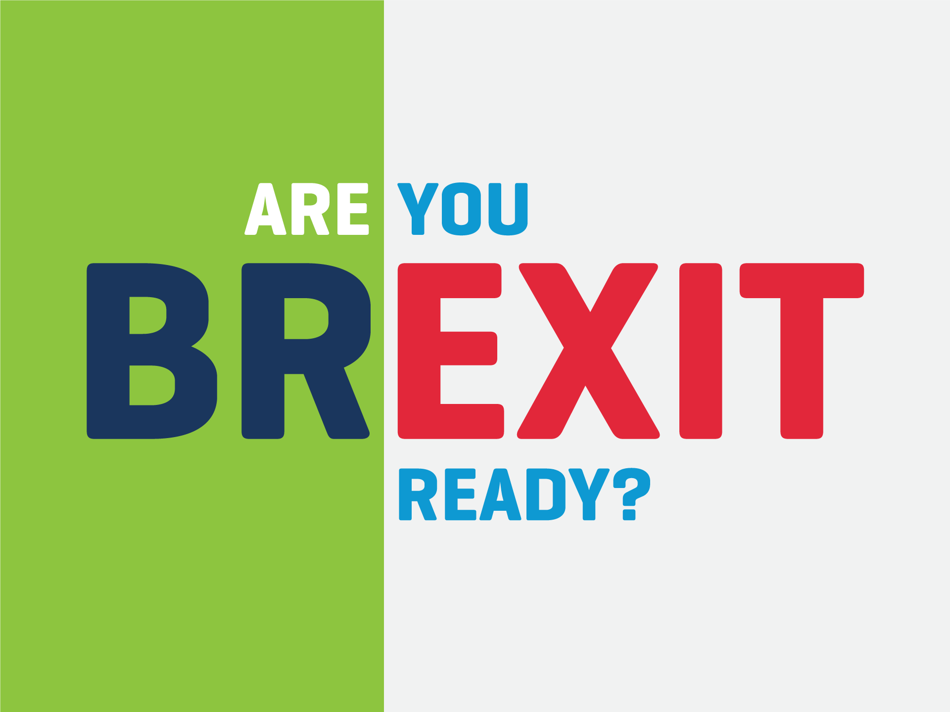 Are You Brexit Ready LEO Donegal Event Graphic Design